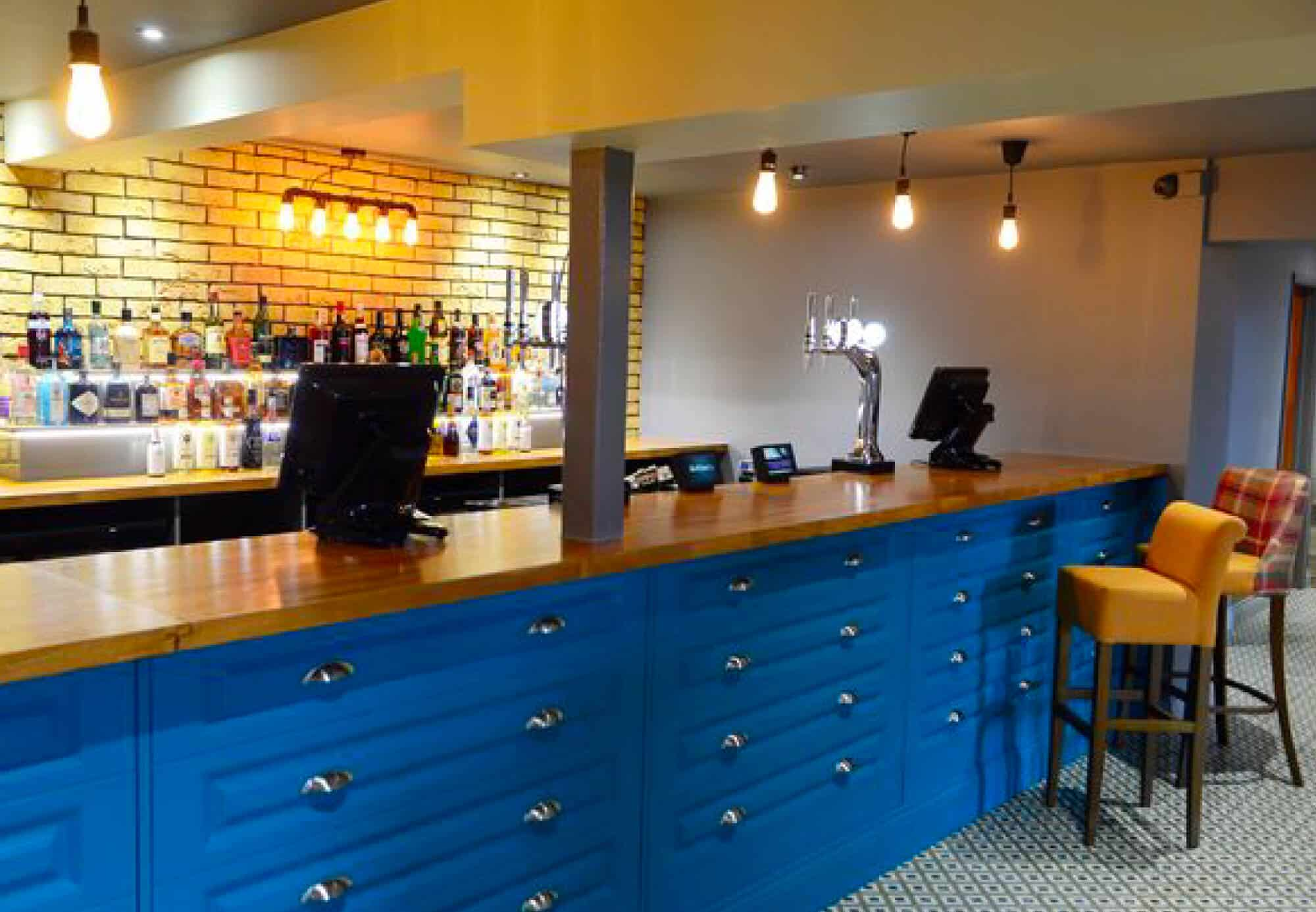 Commercial Bar Design with Drawer Design Fascia