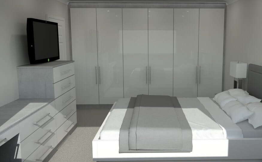 Bedroom Design - CAD 3D Render