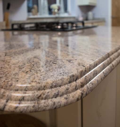 Granite Kitchen Countertop with Bevelled Edge