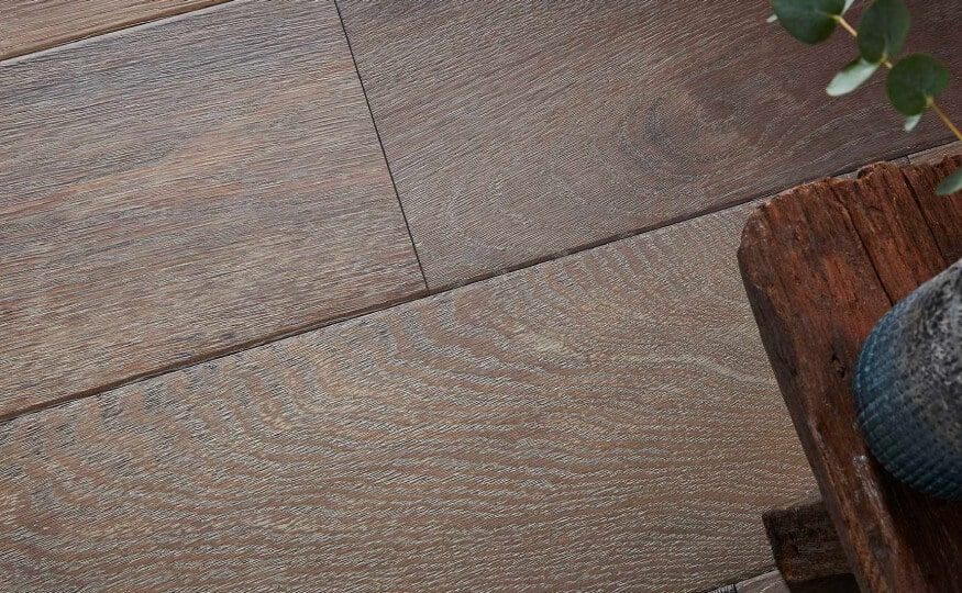 Close Up of Hardwood Floor Finish