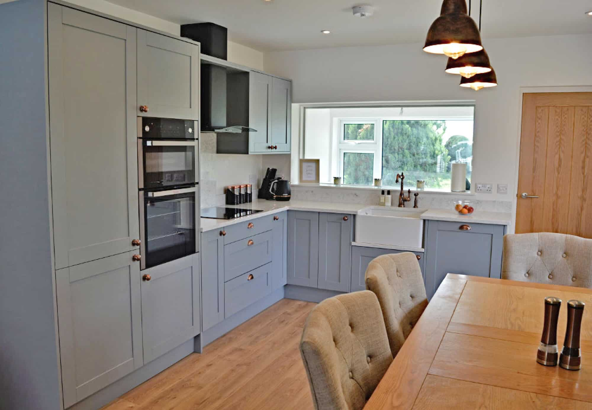 Cosy kitchen with lots of storage and belfast sink