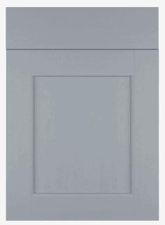Bevelled Kitchen Door Design in Farrow & Ball Plummet